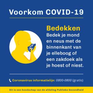 Voorkom COVID - bedekken