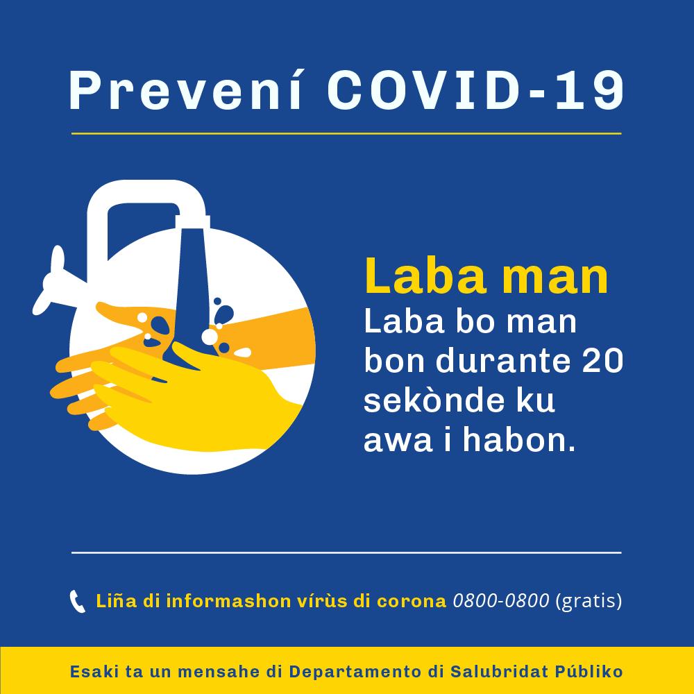 Voorkom COVID - handen wassen PAP