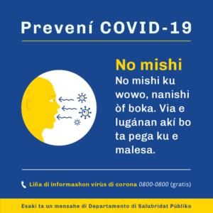 Voorkom COVID - niet aanraken PAP